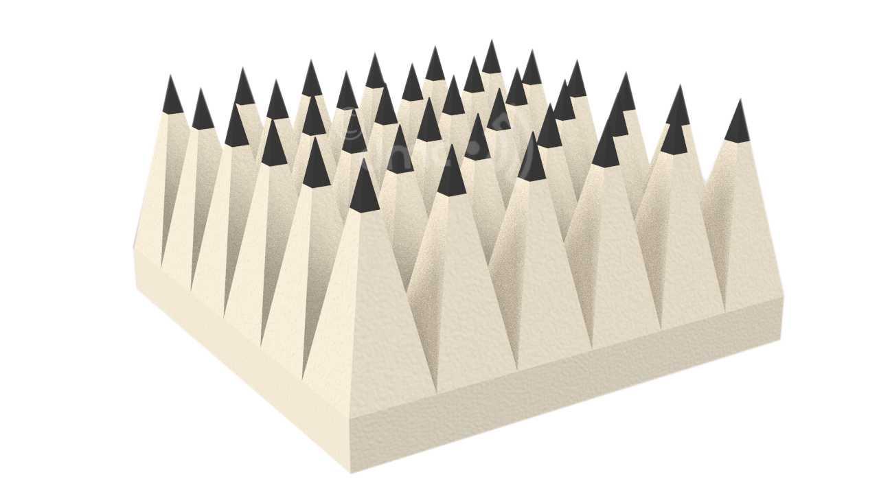 Pyramidal EMC Foam absorber 30cm