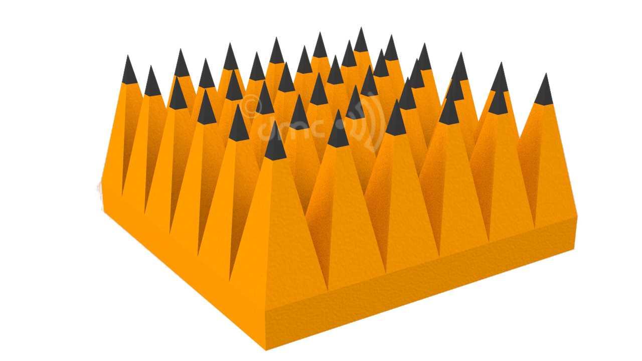 Pyramidal RF Anechoic Chamber material 30cm
