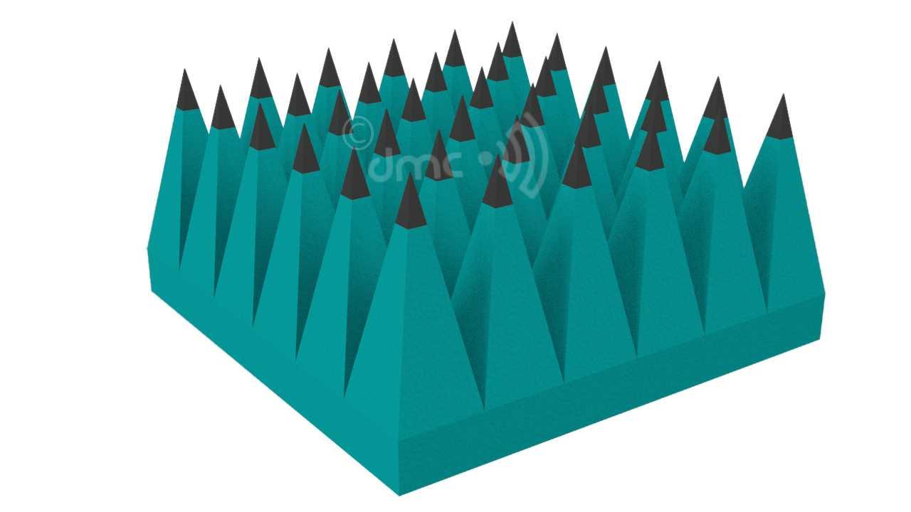 Rubber Sheet Pyramidal RF Foam Absorber 300mm